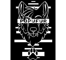 POPUFUR -white text- Photographic Print