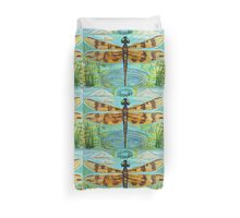 Golden Dragonfly Duvet Cover