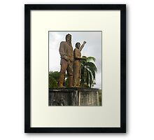 Up The Palmerston! Framed Print