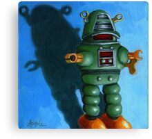 Robot Dream- fantasy still life painting Canvas Print