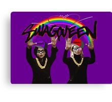 SwagQueen over the Rainbow Canvas Print