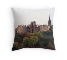 Edinburgh Skyline, Princes Street Gardens Throw Pillow