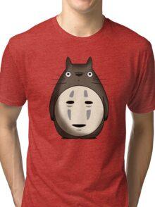 Totoro No Face Tri-blend T-Shirt