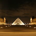 Louvre at Night by arushton