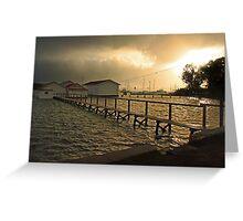 Mosman Bay Boatsheds At Dawn  Greeting Card