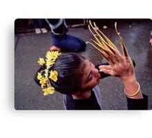 Fingernail dancer, Chiang Mai Canvas Print