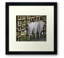 Japanese Bumbershoots Framed Print