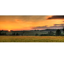 Sunset over the fields Photographic Print