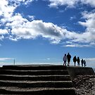 On the Harbour Wall at Lyme Dorset UK by lynn carter