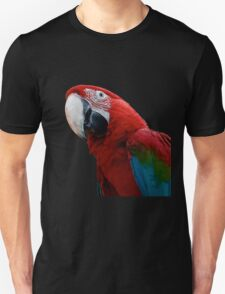 Close-Up Of A Green-Winged Macaw Background Removed T-Shirt