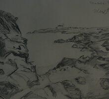 mountain range seascape by chromaxome113