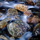 Stones in water by Jon Tait