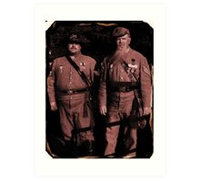 Confederate SC  soldiers Tin Type digal photo Art Print