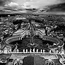 View from The Cathedral of St. Peter, Rome by tazee