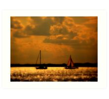 WE SAILED IN  A   GOLDEN    ......  Art Print