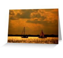 WE SAILED IN  A   GOLDEN    ......  Greeting Card