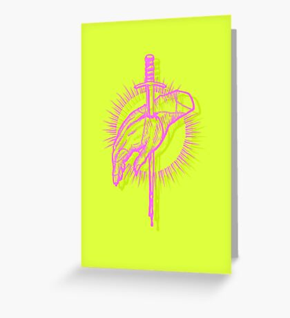 The Sword in the Hand Greeting Card