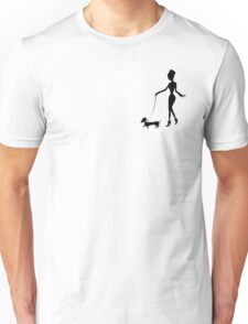 Flaunting The Pooch (teal) - Dachshund Sausage Dog Unisex T-Shirt