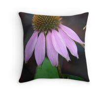 Back Yard Cone Flower Throw Pillow