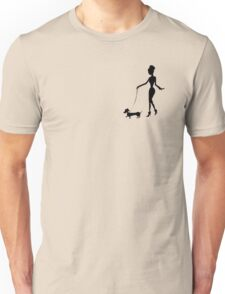 Flaunting The Pooch (violet) - Dachshund Sausage Dog Unisex T-Shirt