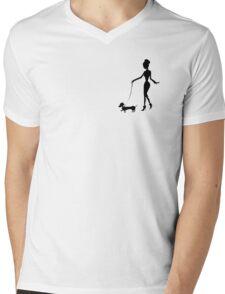 Flaunting The Pooch (violet) - Dachshund Sausage Dog Mens V-Neck T-Shirt