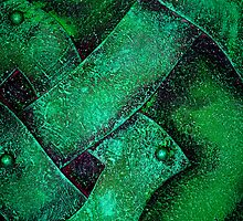 Metal in Abstract ~ Green by Alixzandra