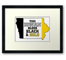 this iowan bleed black and gold Framed Print