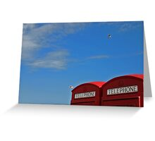 calling mr blue sky! Greeting Card