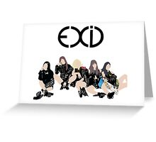 Exid  Greeting Card