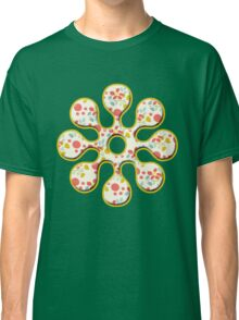 Happy Flowers Fun Pattern Classic T-Shirt