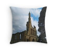 Byland Abbey 5a Throw Pillow