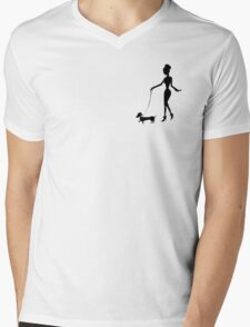 Flaunting The Pooch (peach) Mens V-Neck T-Shirt