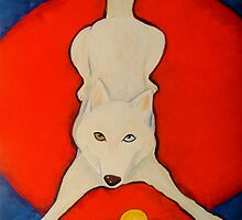 Spirit On A Red Pillow SOLD by Deborah Glasgow