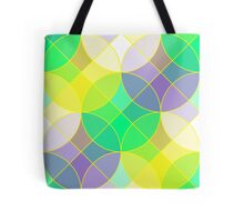 Stained glass tiles mosaic geometric pattern Tote Bag