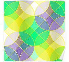 Stained glass tiles mosaic geometric pattern Poster