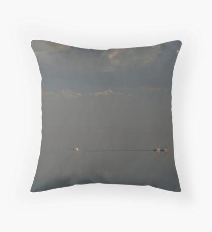 Floating Along Throw Pillow