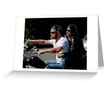 Biker Couple Greeting Card