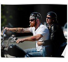 Biker Couple Poster