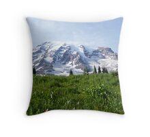 Mt. Rainier Throw Pillow