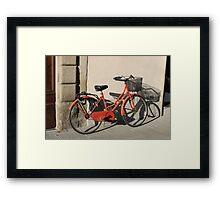 Italian Bicycle Framed Print