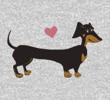 Sausage Love - Dachshund Sausage Dog Kids Tee