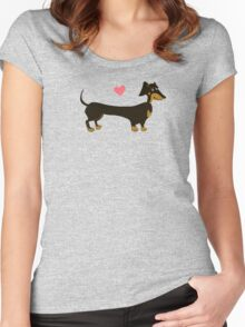 Sausage Love - Dachshund Sausage Dog Women's Fitted Scoop T-Shirt