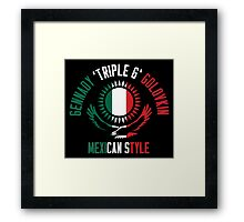 Gennady Golovkin - Mexican Style (Non-Letterpress) Framed Print