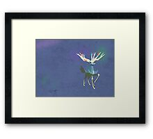 Xerneas Vector Minimalist Textured Edition Framed Print