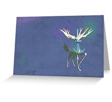 Xerneas Vector Minimalist Textured Edition Greeting Card