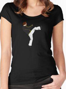 Hayden High Kick (V3) Women's Fitted Scoop T-Shirt