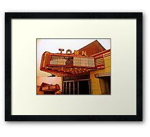 Town Marquee Framed Print
