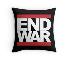 END WAR - RUN DMC Parody Logo Throw Pillow