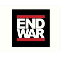 END WAR - RUN DMC Parody Logo Art Print