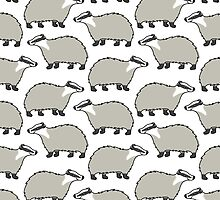 Cute European Badger - repeat pattern by zoel